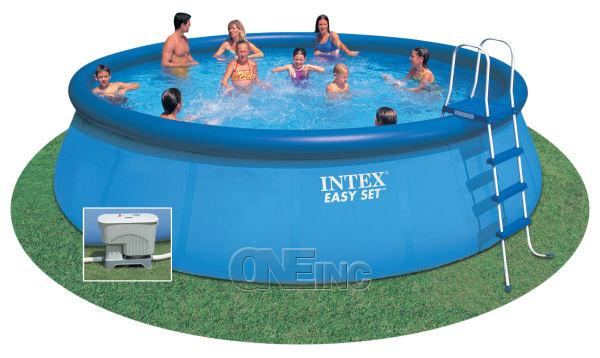 18 39 x 52 easy set above ground pool package chlorinator - Inflatable pool ...