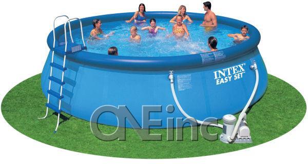 18 39 x 52 easy set above ground pool package chlorinator - Intex easy set pool 18 x 52 ...