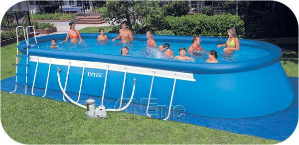 28 39 x 12 39 x 48 ellipse frame above ground pool package for Inflatable above ground pools