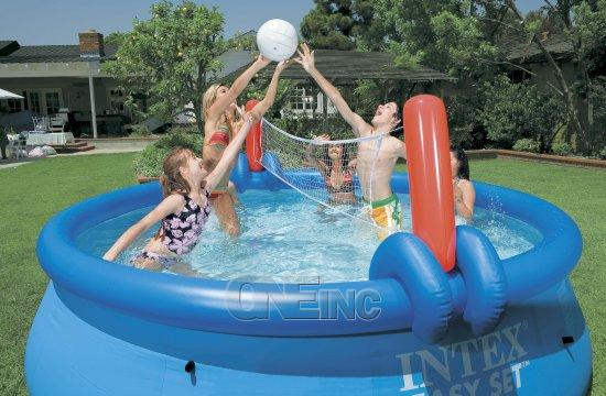 Volleyball And Basketball Set For 10 Or 12 Easy Set Pools