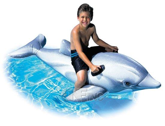 Dolphin Ride On Pool Float