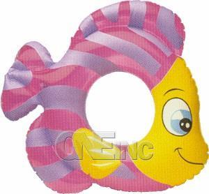 Fish Swim Ring Pool Float Pink
