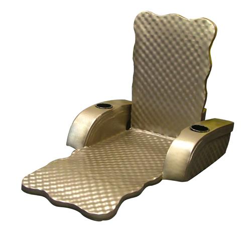 scalloped floating lounge pool float. Black Bedroom Furniture Sets. Home Design Ideas