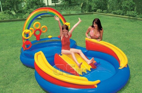 Pools For Kids rainbow ring play center kids pool: kiddie pool playcenter