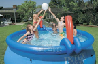 Volleyball and Basketball Set for 10' or 12' Easy Set Pools