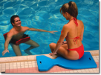 Lime Aqua Saddle Pool Float Cushion