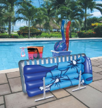 Raft, Pool Float & Towel Caddy w/ Hamper