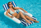 Sunchaser Padded Floating Lounger Pool Float
