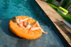 Sunsoft Fabric Covered Lounger Pool Float