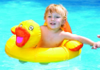 Ducky Baby Seat Pool Float - Fabric Covered