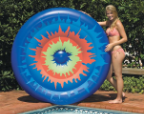 Tie Dye Island Lounger Pool Float
